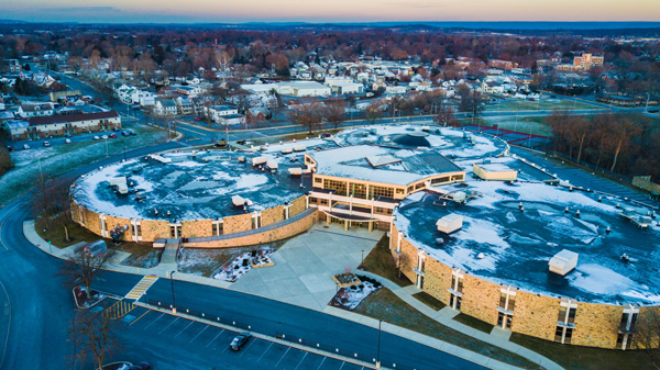 Lebanon High School Expansion Aerial Photo